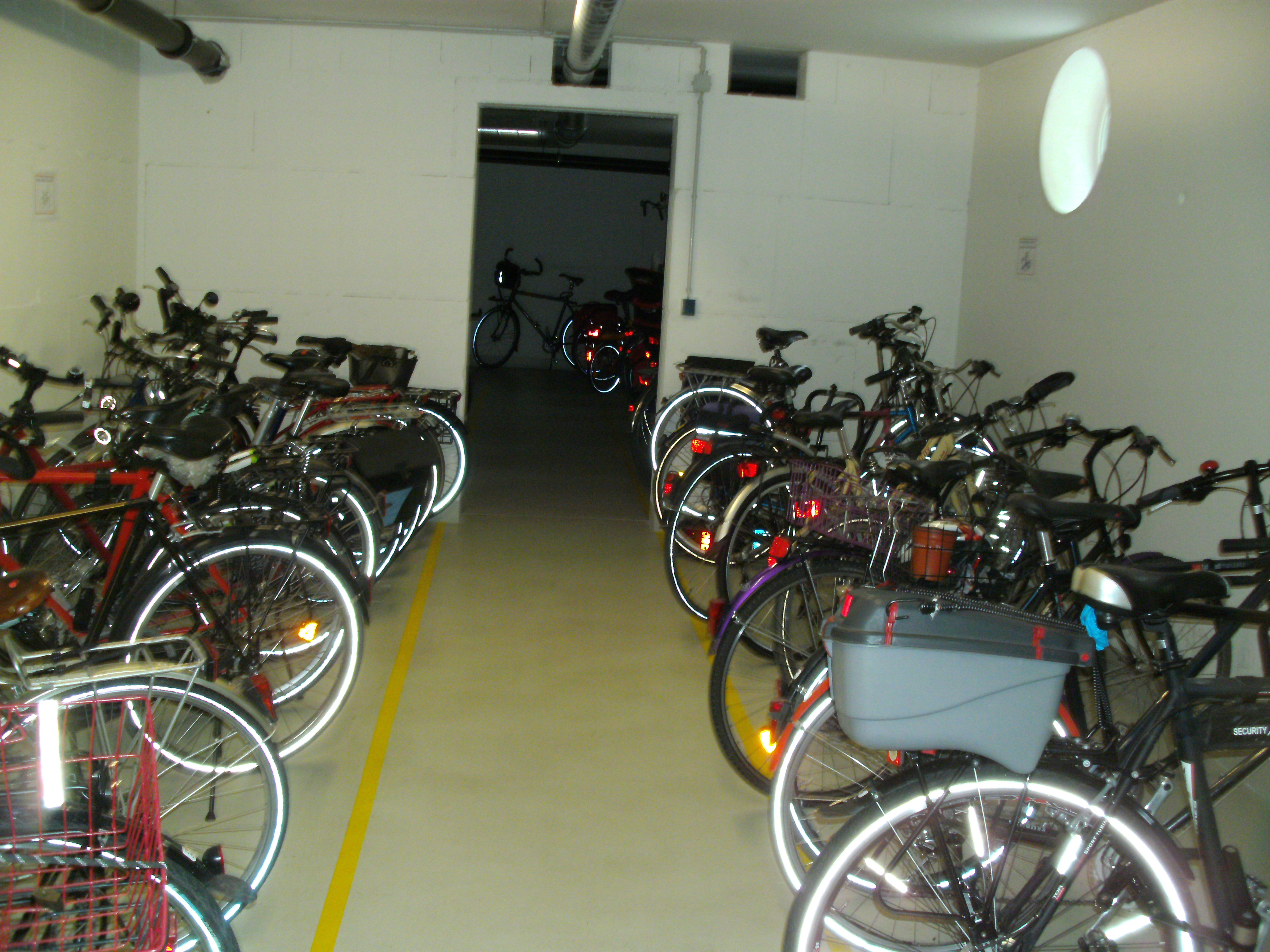 The Basement Contained A Workshop And Individual Storage Lock Ups And A  Large Bike Storage Space Because Everyone Seems To Have At Least Two Bikes  Each Or ...